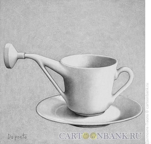 Карикатура: кофе для цветов, Далпонте Паоло