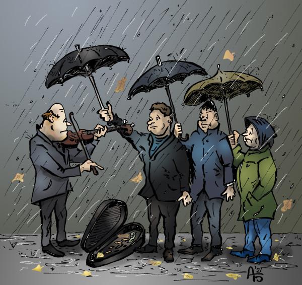 Карикатура: Осенняя, backdanov