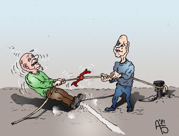 Карикатура: При всех равных условиях, backdanov