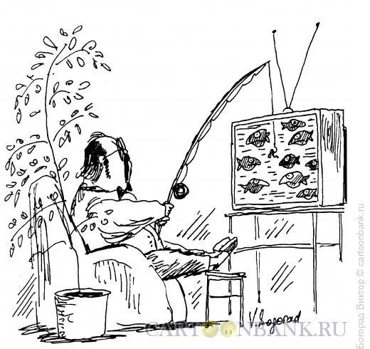 Карикатура: Рыболов, Богорад Виктор