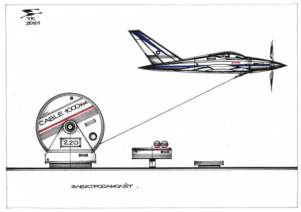 Карикатура: Электросамолёт ., Юрий Косарев