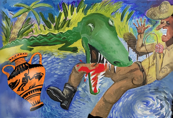 Карикатура: Indiana Jones: The Amphora of Doom, Hippolyte Sbodunoff