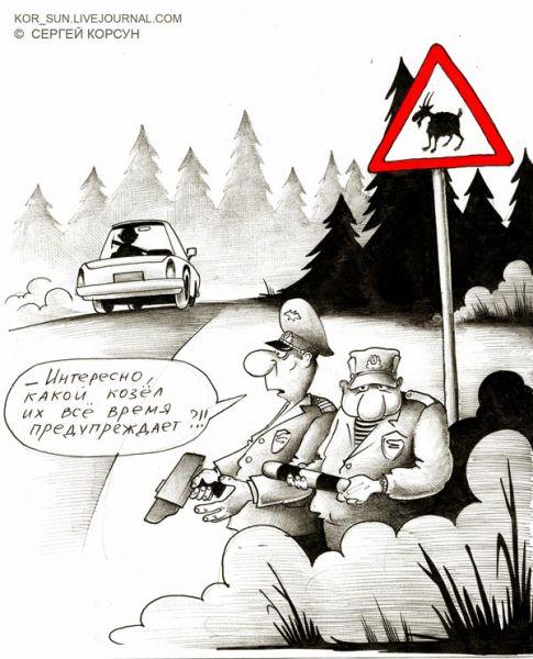 Карикатура: ЗАСАДА, Сергей Корсун